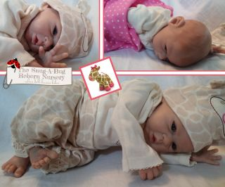 Amazingly Lifelike Reborn Preemie Baby Girl Elliot by Michelle Fagan Low Reserve