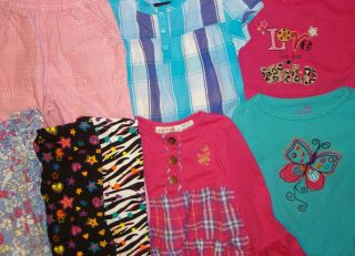 8 Piece Baby Girl Clothes Lot Sizes 4T and 5T Super Bright