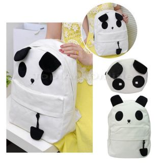 Fashion Women's Lovely Cute Panda Backpack and Small Panda Shoulder Bag White