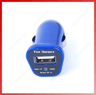 Universal Mini Car USB Charger Adapter for Cell Phone  MP4 Blue