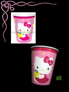 Sanrio Hello Kitty Birthday Party Supply x6 Paper Cups H155