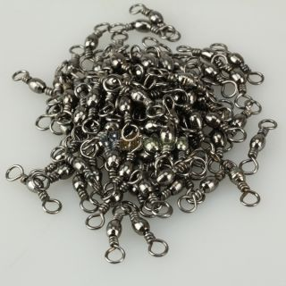 100pcs Barrel Swivel Solid Rings Fishing Connector 5 76g Y367