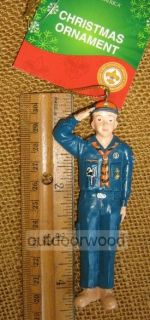 Kurt Adler Blue Cub Scout Figurine Boy Scouts of America Ornament New