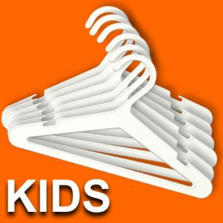 Childrens Double Coat Hangers Plastic Hook Child Baby Toddler Kids Clothes Top