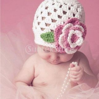 Lovely Baby Girls' Handmade Crochet Cutton Cap Toddler Photography Hat Kids Hot