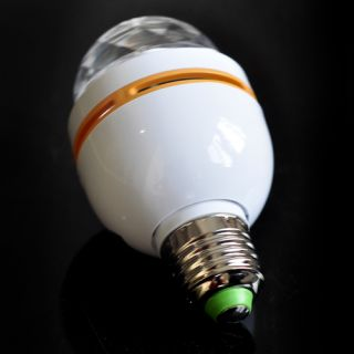 Magic White Yellow 3W E27 Colorful Rotating RGB LED Stage Light Bulb Party Disco