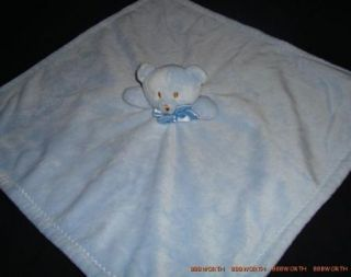Blankets and Beyond Blue White Bear Baby Nunu Lovey