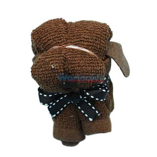 New 1pcs Lovely Puppy Dog Towel Wedding Party Favor Baby Shower Coffee