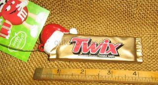 Kurt Adler Twix Chocolate Candy Bar with Santa Hat Licensed M M Ornament New