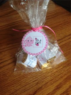 Baby Shower Favor Tags w Elephant Pink or Blue Ships in 24 Hrs