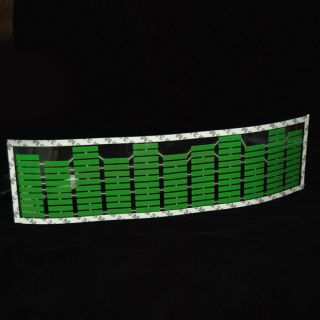 Car Music Rhythm LED Flash Lamp Sticker Decorative Green Equalizer Light 1 x Hot