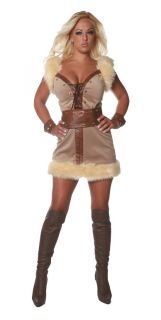 Sexy Barbarian Warrior Halloween Costume Wild Thing Outfit Adult Woman 28987