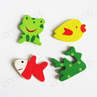 12pcs Wooden Cartoon Lovely Cute Fridge Magnets Baby Child Educational Toy 6