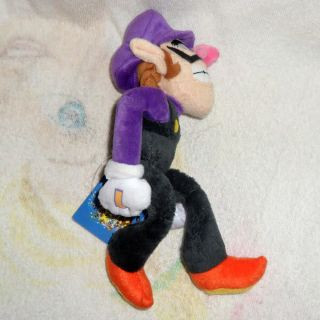 Super Mario Bros Plush Doll Soft Figure Waluigi 11""