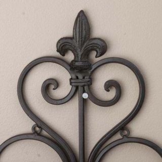 Pair Wrought Iron Metal Sconces Wall Candle Holders 574
