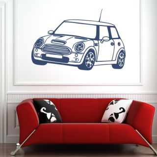 Mini Cooper s Car Vinyl Wall Art Sticker Boys Room Decor Transfer Decal VE010