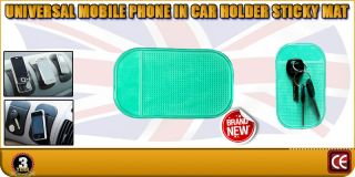 Universal Mobile in Car Van Truck Lorry Holder Sticky Mat Pad iPhone iPod Touch