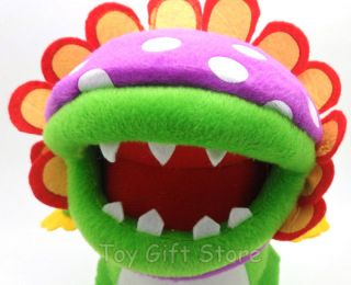New Super Mario Bros Plush Doll Stuffed Toy Dino Piranha 8""