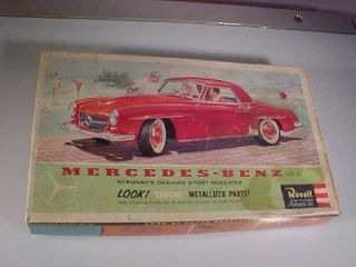 Vtg 1960 Revell Model 1 25 Mercedes Benz 190 SL Kit Box