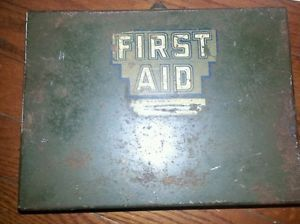 1940's First Aid Kit Medical Supply Vintage Military Army A E Halperin Co Inc