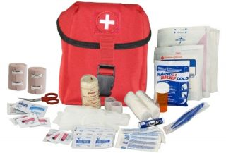 Army Medic EMT ★ Military IFAK Trauma First Aid Kit ★ Red Tactical Pouch