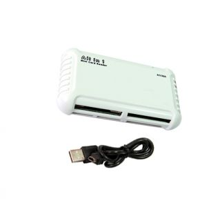 USB Flash Memory All in One 1 SD SDHC Mini MMC M2 XD CF Card Reader Writer White