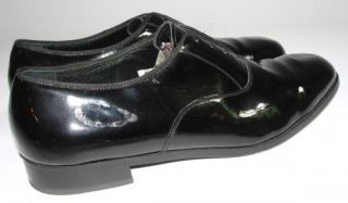 Florsheim Men's Oxford Dress Shoes Black Patent Leather 13 D Military Style