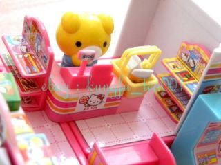 "Sanrio Hello Kitty Miniature Toy ""Convenience Store"" Fridge Cashier Drinks Food"