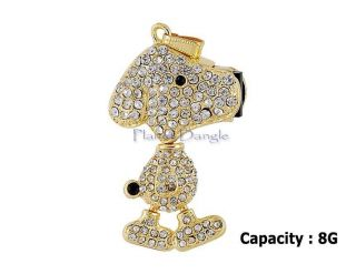 8GB Crystal Snoopy USB Flash Drive Stick Memory