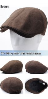 New Warm Wool Simple Basic Style Design Newsboy Flat Cap Ivy Golf Hat Gatsby