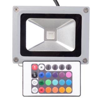 10W RGB LED Outdoor Flood Light Lamp Waterproof Remote Controler Color Changing