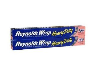 300 Sq ft Reynolds Heavy Duty Aluminum Foil Thick Food Wrap 2 150 Sq ft Rolls