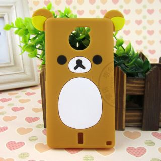 Lovely Cute Teddy Bear Silicone Soft Cover Case for Sony Xperia Sola MT27i