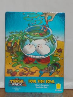 Trash Pack Series 3 Trading Card Game Foul Fish Bowl 03 066 Metallic Foil RARE