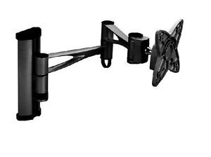 "Black Full Motion Wall Mount Bracket for 17""19""21""23""LCD LED PC Computer Monitor"