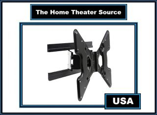 "Slim Full Motion Wall Mount Bracket for Fit 26""32""37""40""42 inch LCD LED TV Vesa"