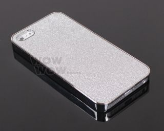 Silver Glitter Sparkle Silver Bling Chrome Hard Snap Case Cover for iPhone 5 5S
