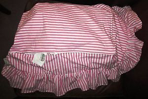 Pottery Barn Kids Anywhere Chair Slipcover Pink Mini Stripe Ruffle New VHTF