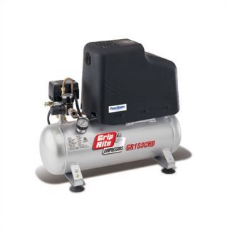 Grip Rite 3 Gallon 2 HP Oil Free Electric Hand Carry Hotdog Single Stage Air Compressor