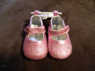 Koala Baby Pink Glitter Soft soled Shoes Size 1