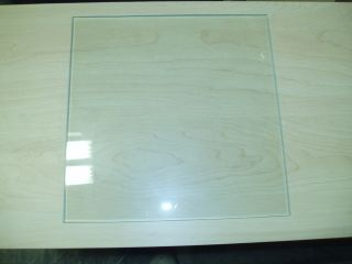 "10"" x 10"" x 3 16"" Square Clear Tempered Glass Shelf Shelves Floating Display"