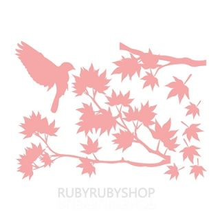 GPS 057 Maple Tree Bird Vinyl Graphic Wall Deco Sticker