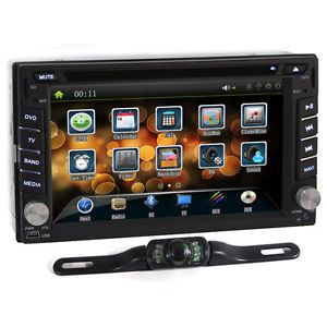 HD 2 DIN Car Stereo DVD GPS Head Unit Carpc Indash Bluetooth  CD Free Camera