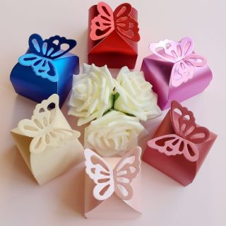 50 100 200 300 Butterfly Candy Box Gift Boxes Wedding Party Baby Shower Favor