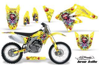 AMR Racing Motocross Graphic Sticker MX Wrap Suzuki RMZ 250 07 09 Ed Hardy LKY