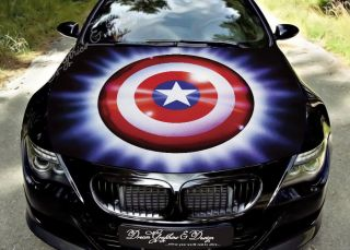 Hood Wrap Full Color Print Vinyl Decal Fit Any Car Battle Warrior Demon 207