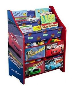 Disney Cars Book and Toy Organizer Pixar Colorful Kids Storage