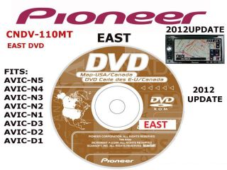 2012 Pioneer CNDV 110MT East Disc Navigation DVDs 2012 GPS Maps AVIC N D