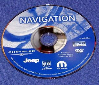 Chrysler 300 Dodge Charger Magnum Jeep Cherokee Rec 5064033AI Navteq CD DVD