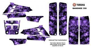 Yamaha Banshee 350 ATV Graphic Sticker Kit 9500PURPLE